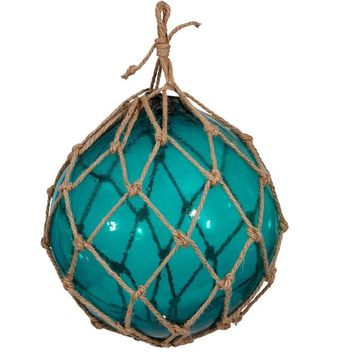 "Glass Floats Ball In Netting 8"" inches 