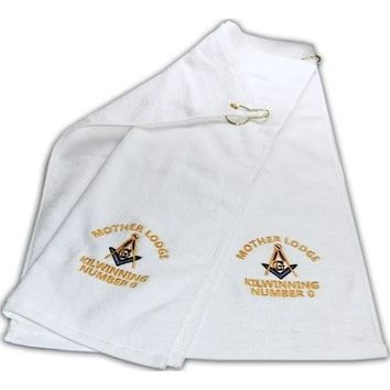 Mason Golf Towel Freemason Masonic
