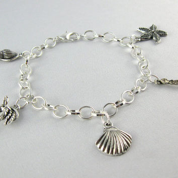 Little Mermaid-Inspired Silver Charm Bracelet