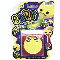 EMOJI BARF Yellow Cry Your Eyes Out Face With Red Slime Squishy Slime Ball With 1 Packet .53oz Of Goop
