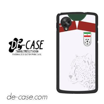 Iran Soccer Jersey For Google Nexus 5 Case Phone Case Gift Present YO