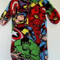 Avengers Baby Sleeping Bag with Hat  baby  by Lilpumpkinboutique