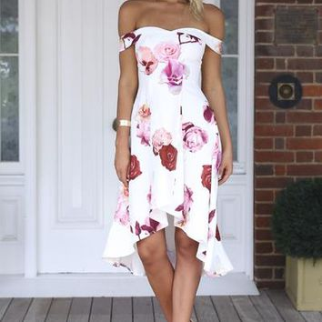 Heaven On Earth Dress (Pink Print) | Xenia Boutique | Women's fashion for Less - Fast Shipping