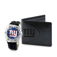New York Giants NFL Men's Watch & Wallet Set