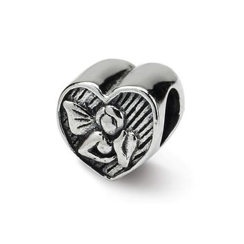 Angel in Your Heart Charm in Silver for 3mm Bead Bracelets