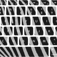 Black and White Zebra Print Macbook Keyboard Stickers