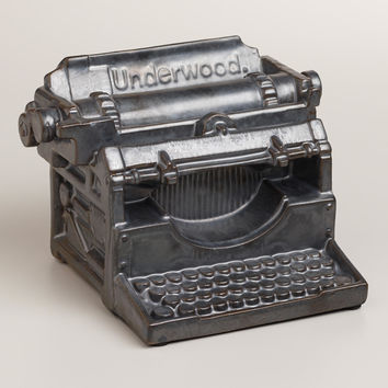 Black Ceramic Decorative Typewriter