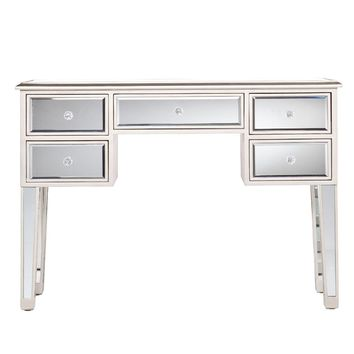 Mirror Console Table/Sofa Console Table, Silver & Clear By The Urban Port