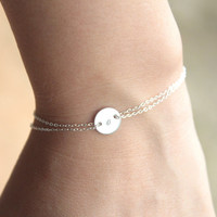 Monogram bracelet - Sterling silver - initial bracelet - silver personalized - gift for friend- gift for sister
