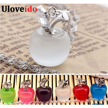 Uloveido Trendy Cubic Zirconia Platinum Plated Rope Chain For Women Women Necklace