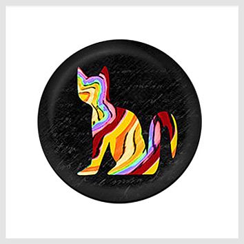 Painted Enamel Colorful Cat 20mm