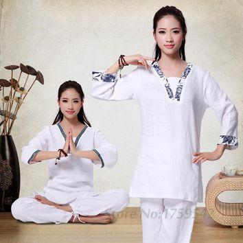 Flax Yoga Suits The New Spring and Summer 2016 More Meditation Yoga Clothing Suit Lay Clothes