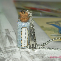Tomorrowland Magical Necklace with a Tibetan Silver Rocket Charm Disneyland Disney World by Life is the Bubbles