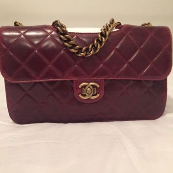 Chanel Bag, Jumbo size, Burgundy