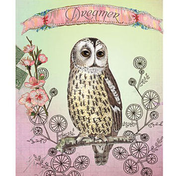 Owl Dreamer Panel Print Wall Art
