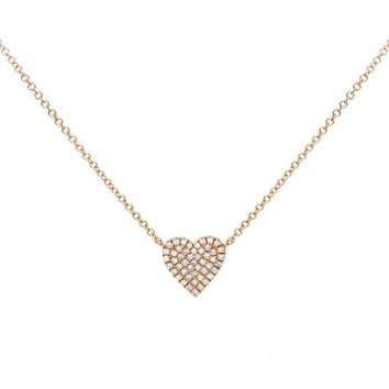 Diamond Heart Necklace 14KT