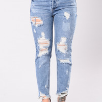 From Him Jeans - Medium Wash