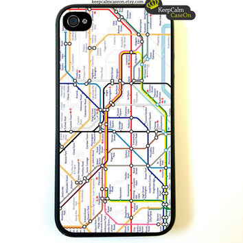 Iphone 4 Case London Tube Map iPhone 4S Case by KeepCalmCaseOn