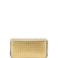 Panettone Spike Stud Continental Wallet, Gold - Christian Louboutin