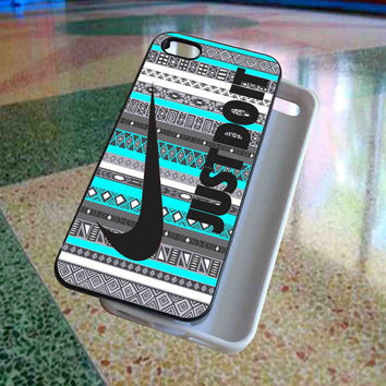 Just Do It, Nike on Aztec Mint art - phone case for iphone 4/
