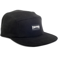 Thrasher 5 Panel Hat - Black