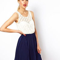 ASOS Skater Dress with Lace Top