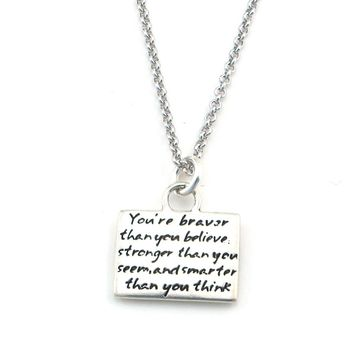 Courage Braille Necklace-B22