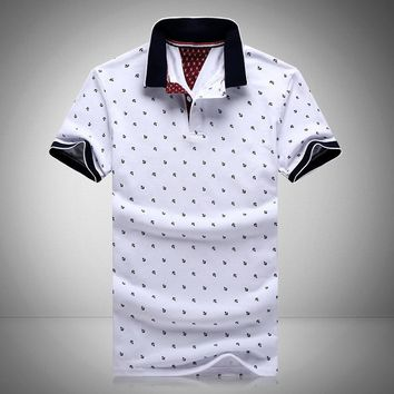*online exclusive* - mens anchor printed polo shirts