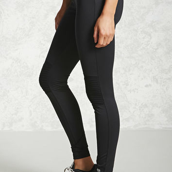 Active Ribbed Knee Leggings