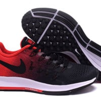 NIKE fashion casual breathable running shoes Black and red