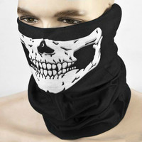 1pcs Halloween Skull Face Mask Party Masks Black Motorcycle Multi Function Headwear Hat Scarf Neck Scary Sport Face