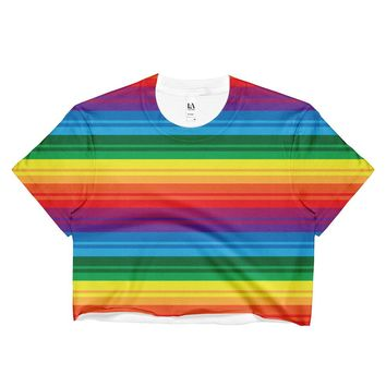 PRIDE, RAINBOW Ladies Crop Top