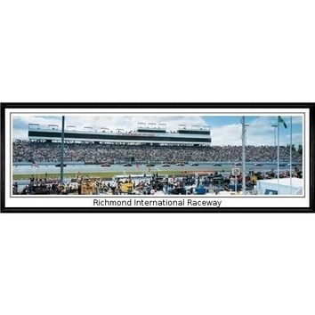 "Richmond International Raceway Richmond International Raceway""  - 13.5""x39"" Standard Black Frame"""