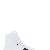 Saint Laurent White Classic Court High-top Sneakers