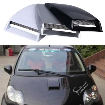 Shop turbo sticker on wanelo car styling universal car stickers car decorative air flow intake scoop turbo bonnet vent cover black sciox Gallery