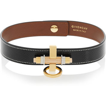 Givenchy - Obsedia black patent-leather choker