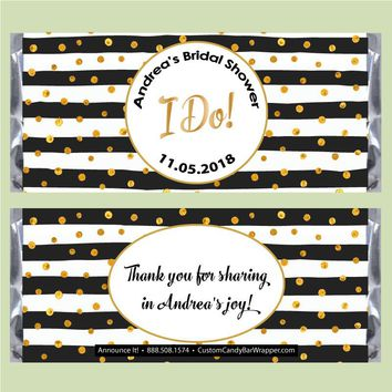 I Do! Bridal Shower Candy Bar Wrappers