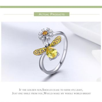 Sparkling Honey Bee Jewelry SET, Ring, Earrings and Necklace BEE-autiful!  Elegant!