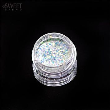 1pcs Colorful Dazzling Laser 3D Rhombus Glitter Shape Sequins Powder Nail Art Acrylic Holographic Nail Art Tips Decor LANC342