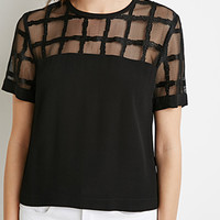 Grid Mesh-Paneled Top