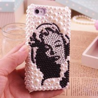 Marilyn Monroe Pearl Handmade iPhone Case by Pomelo on Zibbet