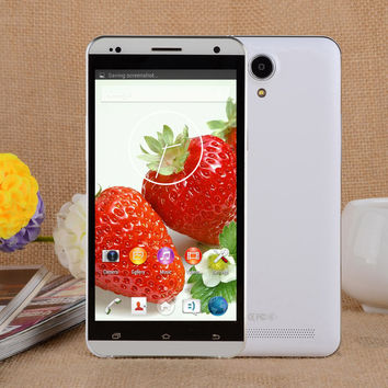 X-BO V10 Dual-core Android 4.4.2 WCDMA Phone  5.5 inch IPS GPS Wi-Fi 4GB ROM - White  Silver