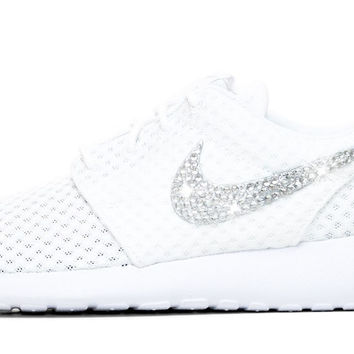 Nike Roshe One + Crystals - White