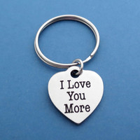 Simple, I Love You More, Heart, Keyring, Keychain, I love you, Love, Accessories, Love, Charm, Pendant, Birthday, Girl friend, Gift