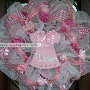 Deluxe It's A Girl Baby Shower Little Pink Dress or by myfriendbo