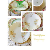 Haviland Limoges salad plate with lovely yellow flowers