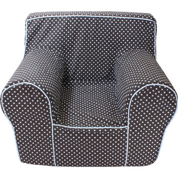 Chocolate Microdot Chair Cover for Foam Childrens Chair