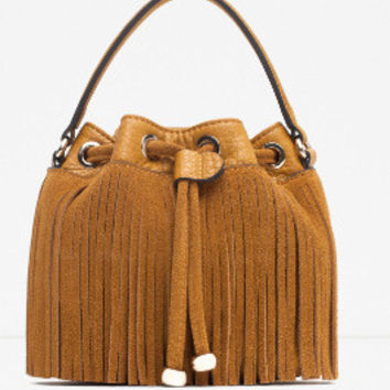 Tassels One Shoulder Bags [6581393991]