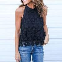 Lace Boho Halter Top