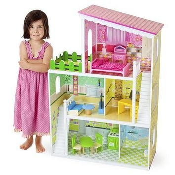 Wooden Wonders Living Large! Modern Doll House